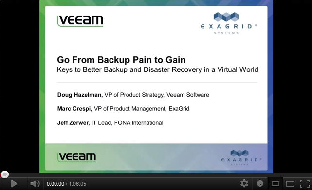 Go From Backup Pain to Gain: Keys to Better Backup and Disaster Recovery in a Virtual World